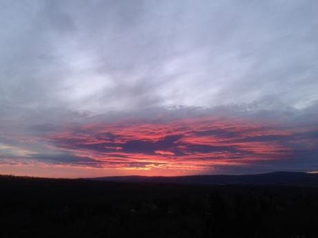 téli naplemente - fotó Ráczné Szabó Rita